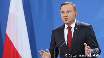«Η Πολωνία θέλει να οικοδομήσει από κοινού μια περιφερειακή ένωση πλάι στην Ευρωατλαντική Συμμαχία», δήλωσε ο Πολωνός πρόεδρος Αντρέι Ντούντα