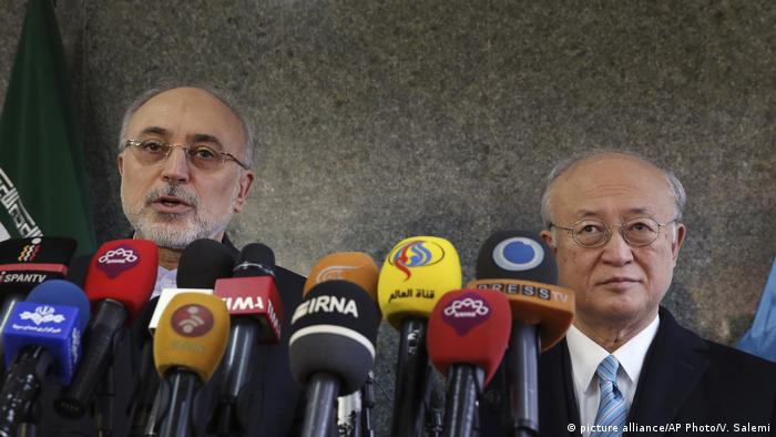 Iran Amano trifft Salehi in Teheran (picture alliance/AP Photo/V. Salemi)