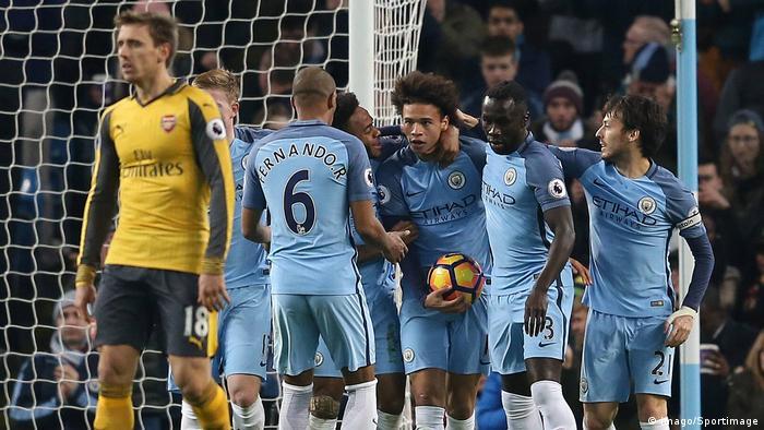 Leroy Sane Jubel Manchester City vs. Arsenal (imago/Sportimage)
