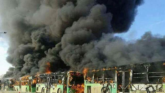 Evakuierungsbusse in Syrien angegriffen (Reuters)