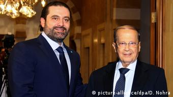 Libanon Saad al-Hariri und Michel Aoun in Beirut