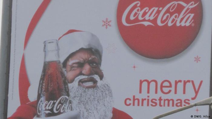 Santa drinking Coca Cola