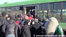 Syrien Evakuierung in Aleppo