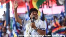 Bolivien Präsident Evo Morales in Montero