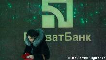Ukraine Filliale der PrivatBank in Kiew