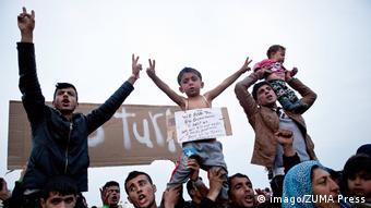 Greichenland Flüchtlinge protestieren auf Chios