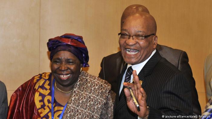 Dlamini-Zuma und Jacob Zuma (picture-alliance/dpa/J. Prinsloo)