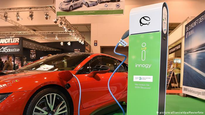 innogy's recharging system on display at Essen Motor Show