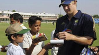 Australisches Cricket Team beim Training in Jaipur Indien