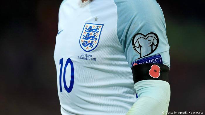 England Mohnblume (Poppy) England v Scotland - FIFA 2018 (Getty Images/R. Heathcote)
