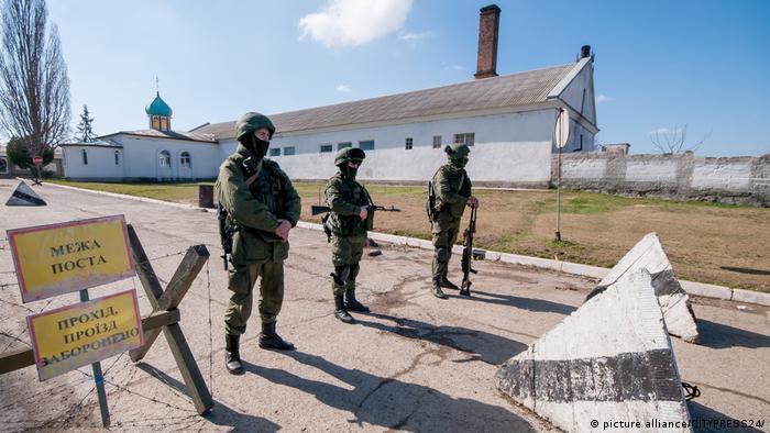 Ukraine Russische Soldaten auf der Krim Archiv