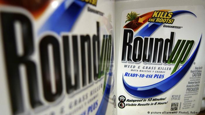 A close-up of the weedkiller Roundup