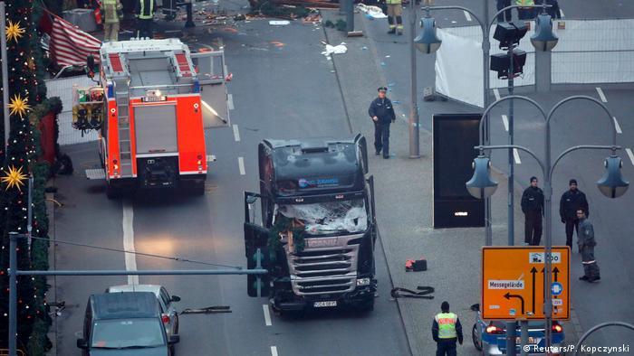 На месте трагедии в Берлине