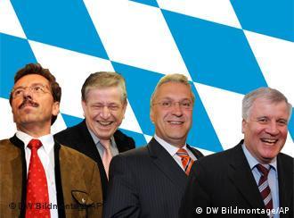 Becksteins mögliche Nachfolger: Schmid, Goppel, Herrmann, Seehofer (v.l.) (Grafik: AP)
