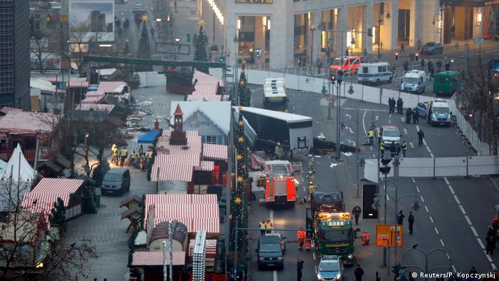 Место теракта в Берлине