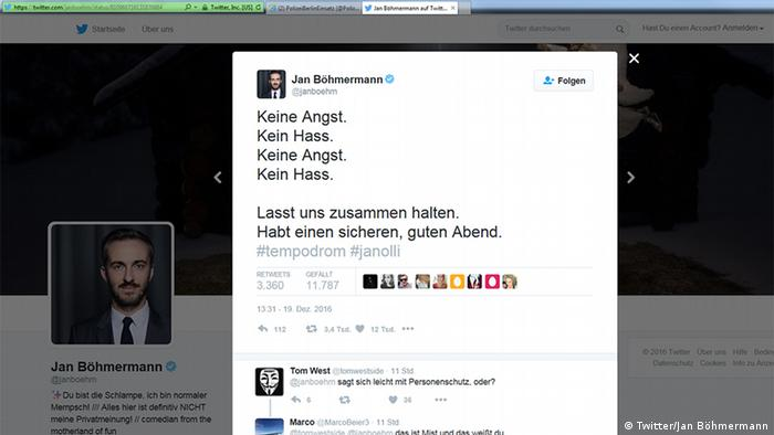 Deutschland Anschlag in Berlin Social Media Reax (Twitter/Jan Böhmermann)