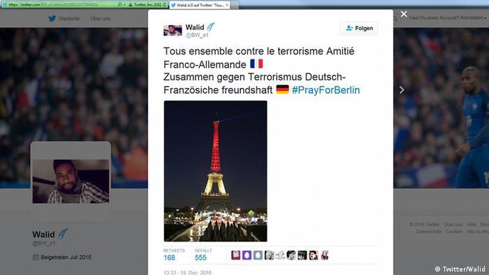 Deutschland Anschlag in Berlin Social Media Reax (Twitter/Walid)