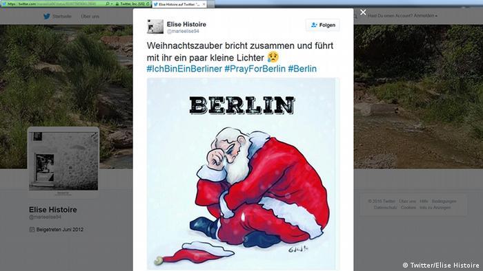 Deutschland Anschlag in Berlin Social Media Reax (Twitter/Elise Histoire)