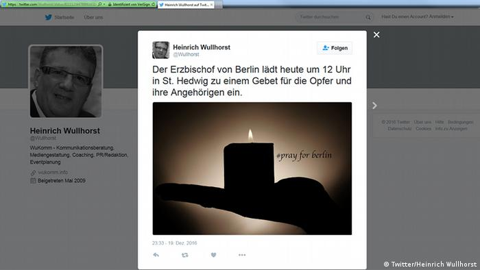 Deutschland Anschlag in Berlin Social Media Reax (Twitter/Heinrich Wullhorst)