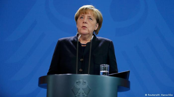 Deutschland Merkel Statement zum Anschlag in Berlin (Reuters/H. Hanschke)