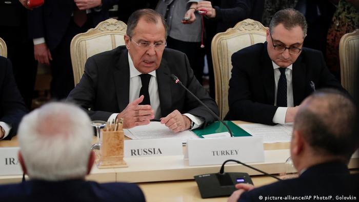 Russland Treffen zwischen Russland, Iran und Türkei in Moskau (picture-alliance/AP Photo/P. Golovkin)