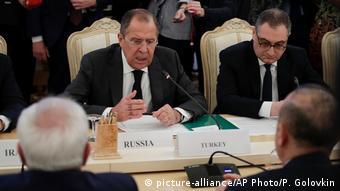Russland Treffen zwischen Russland, Iran und Türkei in Moskau