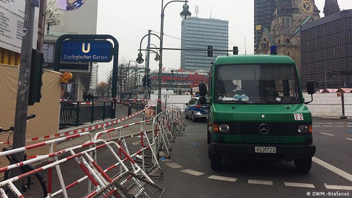 Deutschland Breitscheidplatz nach dem Anschlag in Berlin