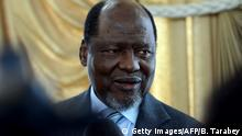 May 5, 2013*** Former Mozambican President Joaquim Chissano and head of the Southern African Development Community (SADC) delegation to Madagascar, speaks to journalists on May 5, 2013 in Antananarivo. Two former presidents of the troubled African state of Madagascar on May 5, 2013 joined calls for a postponement of elections aimed at ending a four-year-old political stalemate. The parties of Didier Ratsiraka and Albert Zafy are demanding a new transitional authority after election authorities approved the candidacy of strongman Andry Rajoelina, who had earlier vowed not to run. Joaquim Chissano, the former Mozambican president who heads the SADC delegation to Madagascar, told a news conference in Antananarivo on May 5 that the regional mediators favoured going forward. AFP PHOTO / BILAL TARABEY (Photo credit should read BILAL TARABEY/AFP/Getty Images)