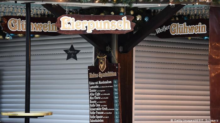 Berlin geschlossene Weihnachtsmärkte nach Anschlag (Getty Images/AFP/T. Schwarz)
