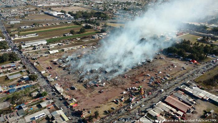 Mexiko Explosion Feuerwerkmarkt in Tultepec