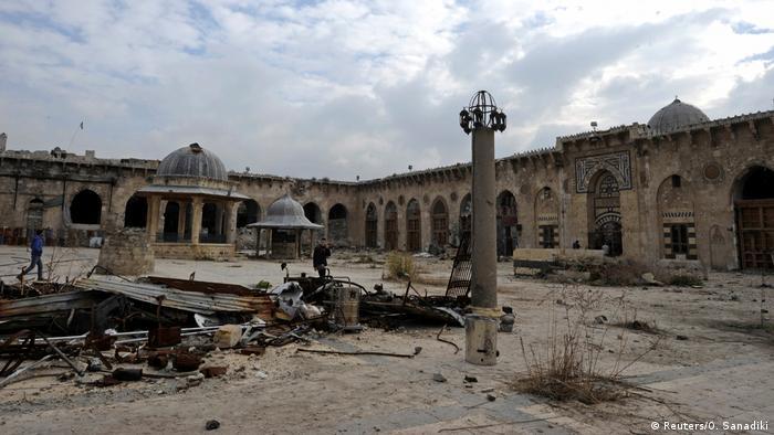 Syrien Aleppo Vorher-Nachher: Moschee Umayyad - nachher (2016) (Reuters/O. Sanadiki)