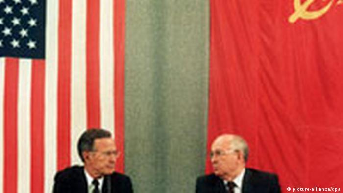 Džordž Buš i Mihail Gorbačov u Moskvi, 31.07.1991. prilikom potpisivanja START I