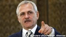 epa05684203 Liviu Dragnea, the leader of Romanian Social Democracy Party (PSD), makes a statement, nominating his choice for a new prime minister, shortly after his meeting with Romania's President Klaus Iohannis (not pictured) for negotiations for a designated Prime Minister and governement, at Cotroceni presidential palace, in Bucharest, Romania, 21 December 2016. PSD won the parliamentary elections on 11 Decemeber, and together with ALDE (The Alliance of Liberals and Democrats in Romania) has the majority in the Romanian parliament. Dragnea was supposed the become Prime Minister, but a law from 2001 state that he cannot become premier because of a two years suspended sentence he got in a trial, known as 'Referendum files' in April 2016. Liviu Dragnea appointed female economist Sevil Shhaideh, 52, (not pictured) as designated Prime Minister. EPA/ROBERT GHEMENT |