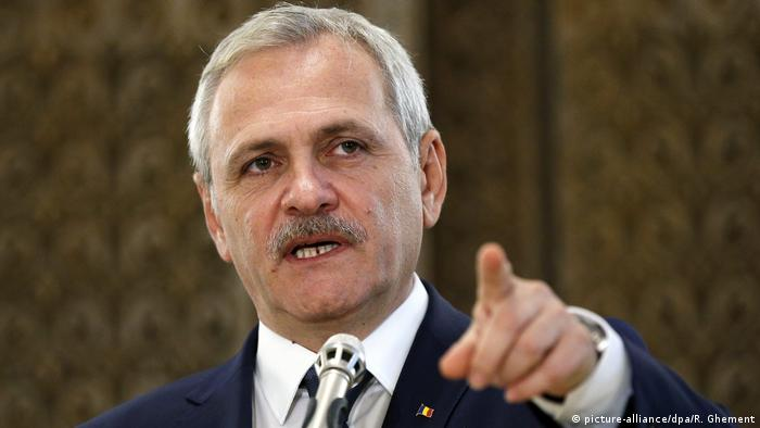 Rumänien Liviu Dragnea (picture-alliance/dpa/R. Ghement)