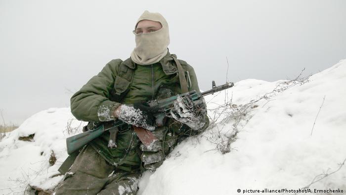 A pro-Russia rebel in eastern Ukraine