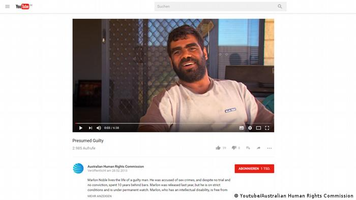 Screenshot Youtube - Australien - Martin Noble (Youtube/Australian Human Rights Commission)