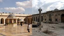 Bildkombo Aleppo Vorher/Nachher