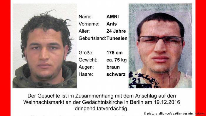 Security alert for Anis Amri (picture-alliance/dpa/Bundeskriminalamt)