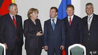 Меркель, Медведев, Миллер и руководители немецких компаний
