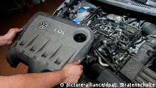 Дизельный мотор автомобиля VW Touran, в котором использовалось программное обеспечение, позволяющее манипулировать данными об уровне выхлопов