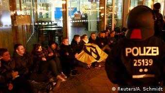 Deutschland Identitäre Bewegung protestiert in Berlin