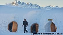 Außergewöhnliche Hotels Iglu-Dorf im Allgäu bietet Romantik bei Null Grad