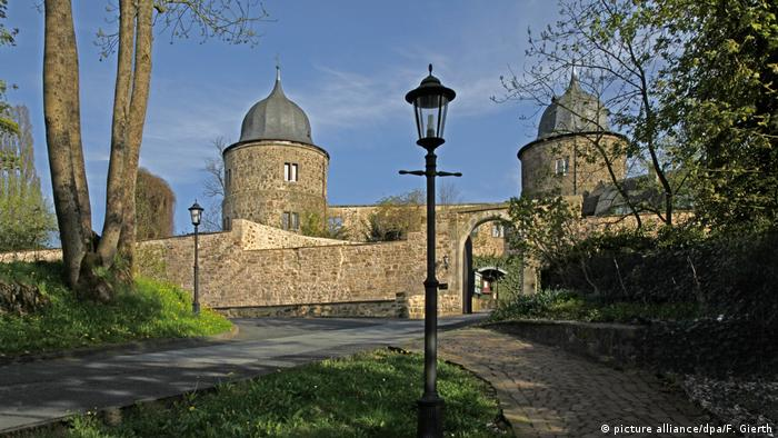 A view of a medieval castle