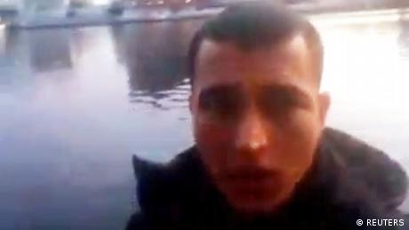 An image grab from a short 'selfie' video clip from a social media website purportedly shows Anis Amri, the Tunisian suspect of the Berlin Christmas market attack, at an unknown location (REUTERS)