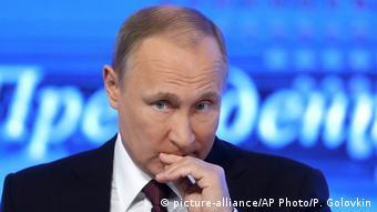 Russland Jahrespressekonferenz Wladimir Putin