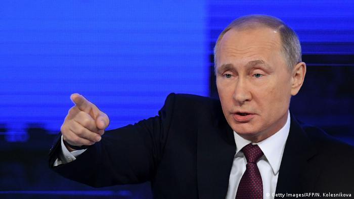 Russland Jahrespressekonferenz Wladimir Putin (Getty Images/AFP/N. Kolesnikova)