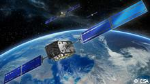 Description Europe's Galileo navigation satellites orbit 23 222 km above Earth to provide positioning, navigation and timing information all across the globe. http://www.esa.int/spaceinimages/Images/2016/12/Galileo_satellites2