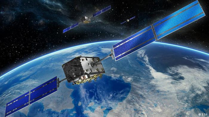 Спутник системы глобального спутникового позиционирования Galileo