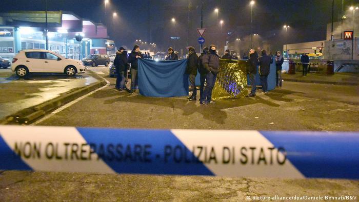 Italien Mutmaßlicher Berliner Attentäter inMailand getötet (picture-alliance/dpa/Daniele Bennati/B&V)