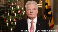 Deutschland Weihnachtsansprache Bundespräsident Gauck